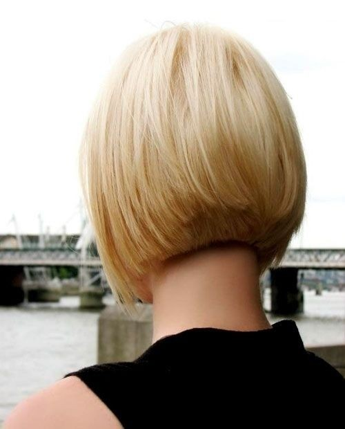 Blunt, Medium Bob Haircut Back View - Spring Short Hairstyles for Thin Hair