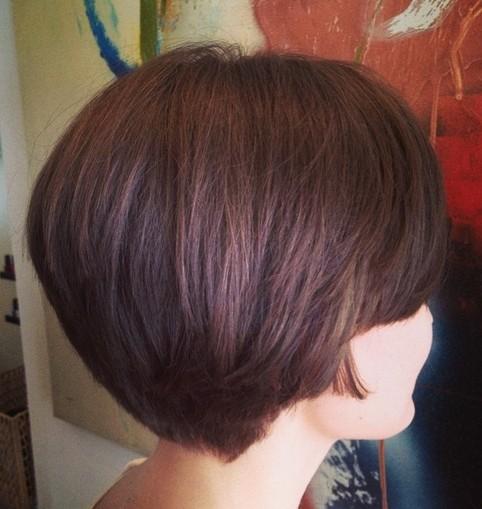 Bob Haircut Back View - Short Hairstyles  width=