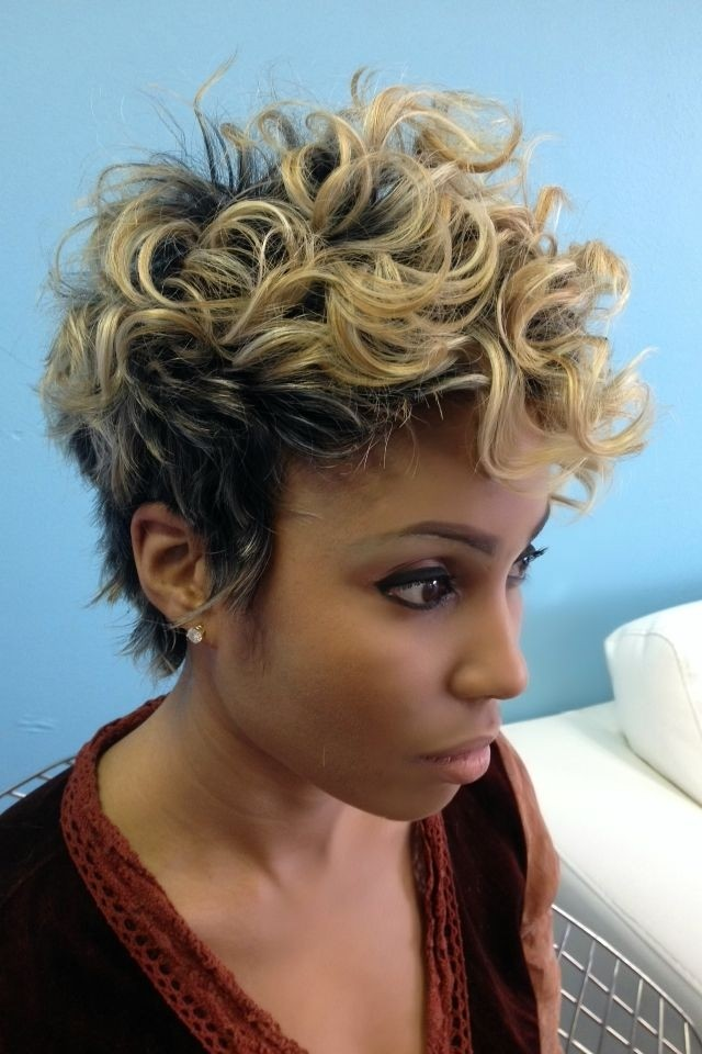 Short Curly Haircuts : Curly Pixie Haircut - Black Women Short Hairstyles 2015