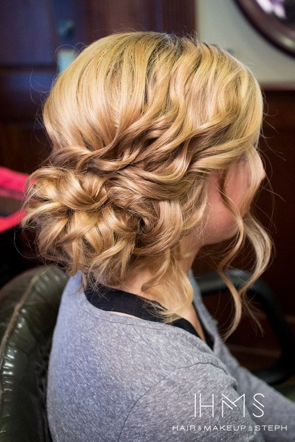 Curly Side Updo - Dance Hairstyle Ideas 2015