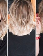 Cute Blonde Ombré Hairstyles: Blunt, Layered Haircut for Medium Hair