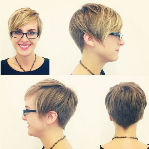layered pixie haircuts for winter 2014 2015 via dark