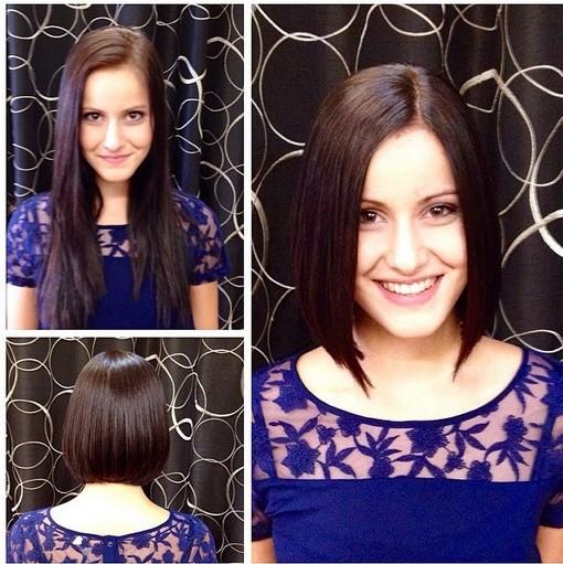 Cute Long Bob Haircut - Short Hairstyles  width=