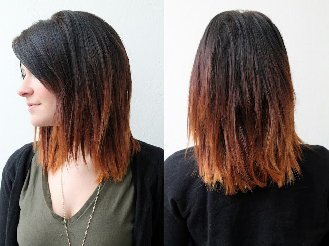 Dark to Brown Ombre Hair for Shoulder Length Hair / Tumblr