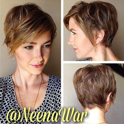 Everyday Hairstyle For Women Messy Short Haircuts With Side Swept
