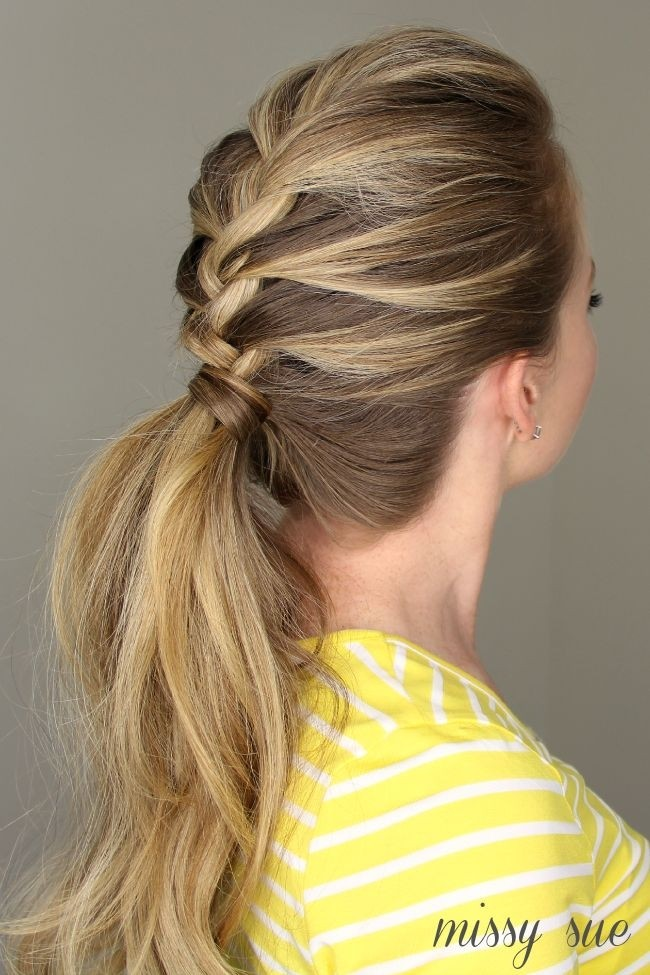 French Braid Ponytail - Everyday Hairstyles for Women Long Hair 2015