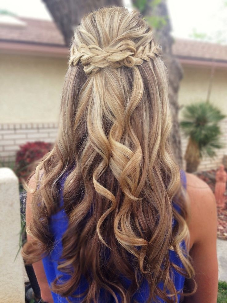 Half Up Half Down Hair Style with Braid - Prom Hairstyles 2015