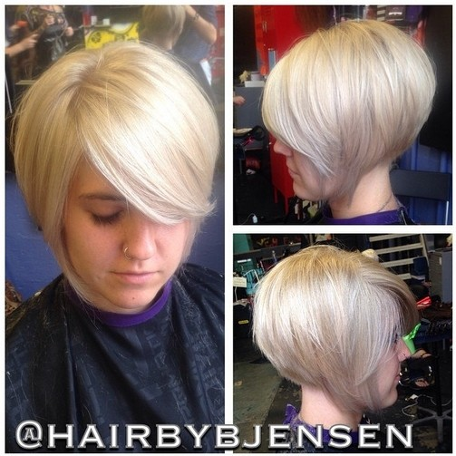 Inverted Bob Hairstyle For Fine Hair Via