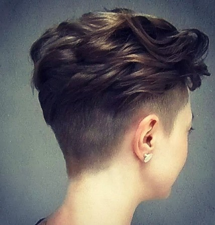 Layered Wavy Haircut - Short Pixie Hairstyles