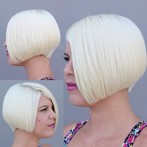 Light Blonde Bob Haircut - Women Short Hairstyles