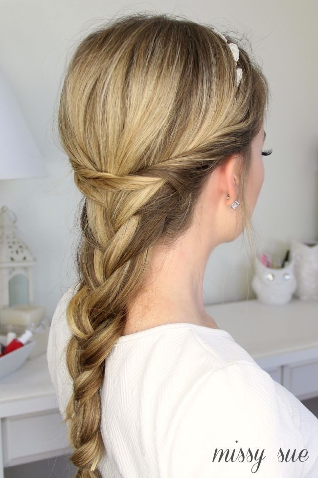 Loose French Braid with Twists