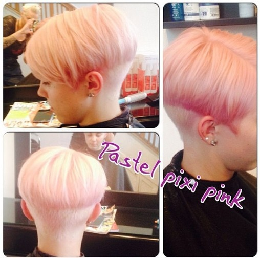 Pastel Pixie Pink - Short Haircuts 2015