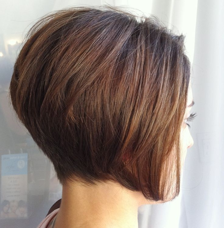 Stacked Short Layered Bob Hairstyles 30