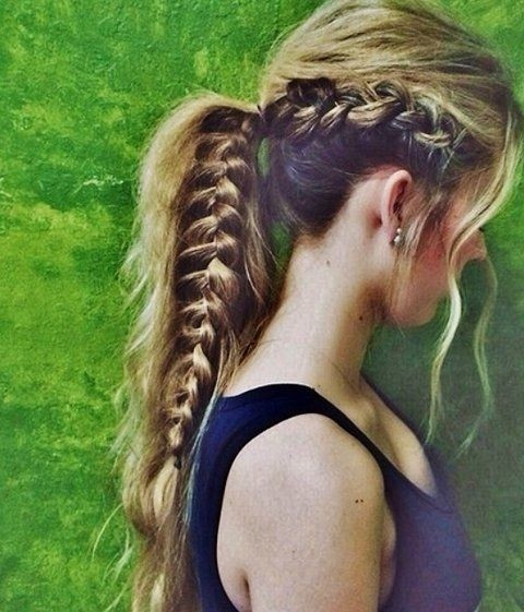 Ponytail Hairstyle with Braid