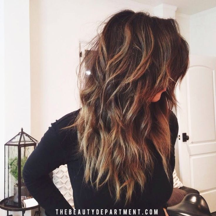Pretty Wavy Hairstyle for Thick Hair - Girls Long Hairstyles 2015