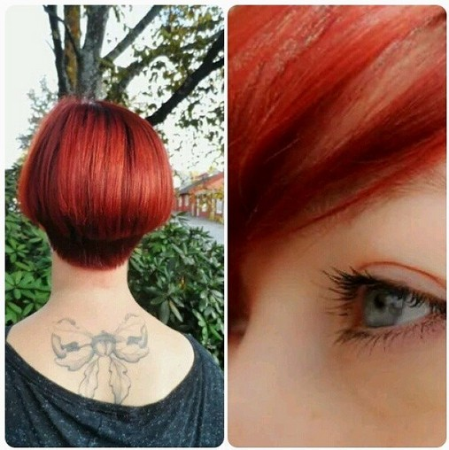 Red Bob - Short Haircuts for Thick Hair  width=