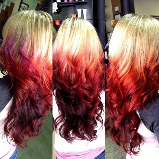 Red Ombre Hairstyle for Long Hair   Ombre Hair Colour Ideas 201520 Amazing Ombre Hair Colour Ideas   Page 2 of 5   PoPular Haircuts. Hair Colour Ideas For Long Hair 2015. Home Design Ideas