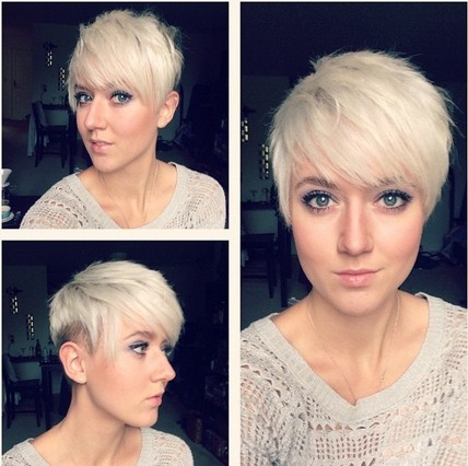 Shaved Pixie Haircut - Short Thin Hairstyles for Heart Face Shape
