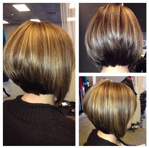 Short Angled Bob Hairstyle Pretty Hair Color