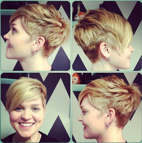 Short Hairstyle for Thick Hair with Layers