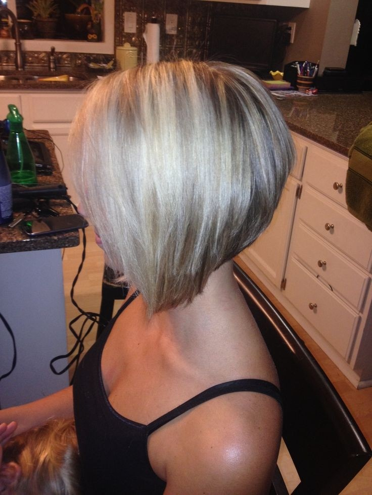 Short Stacked Angled Bob Haircut: Stylish Short Hairstyles for Women 2014- 2015
