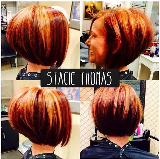 Stacked Bob Haircut - Women Short Hairstyles  width=