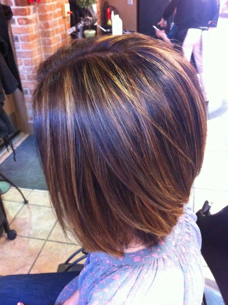 Stacked Bob Hairstyle for Straight Hair: Highlights