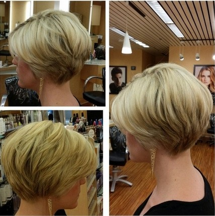 Stacked, Layered Short Hairstyle - Thin Hairstyles