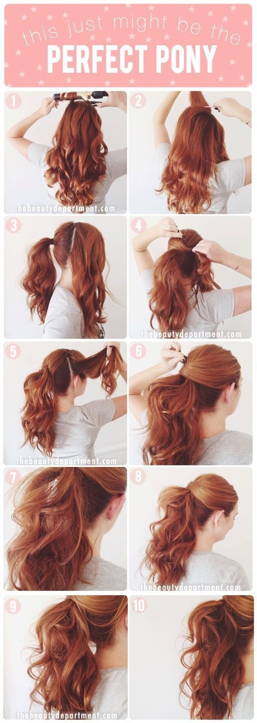 Step-by-step Tutorial on the Ponytail - Long Hairstyles 2015