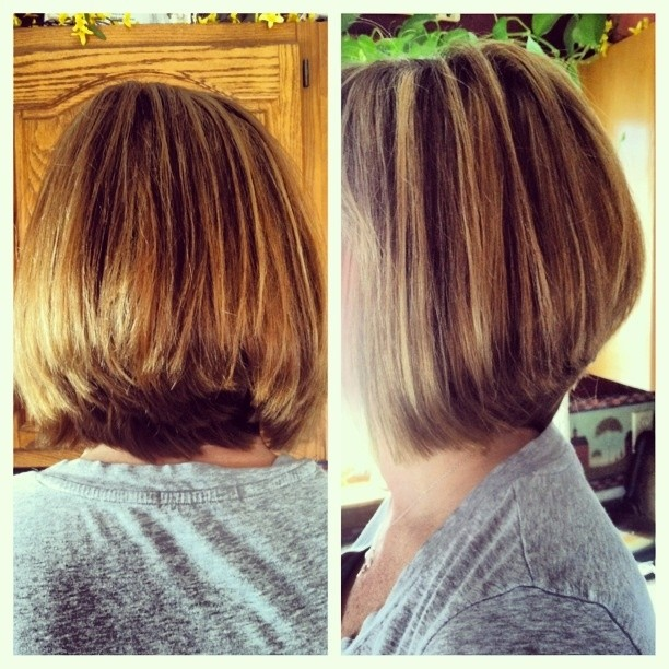 Straight Long Bob Hairstyles Side and Back View