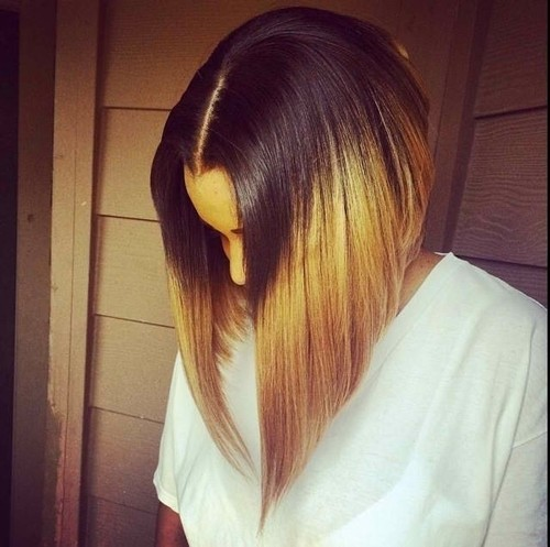 Straight Long Bob: Ombre Hairstyles