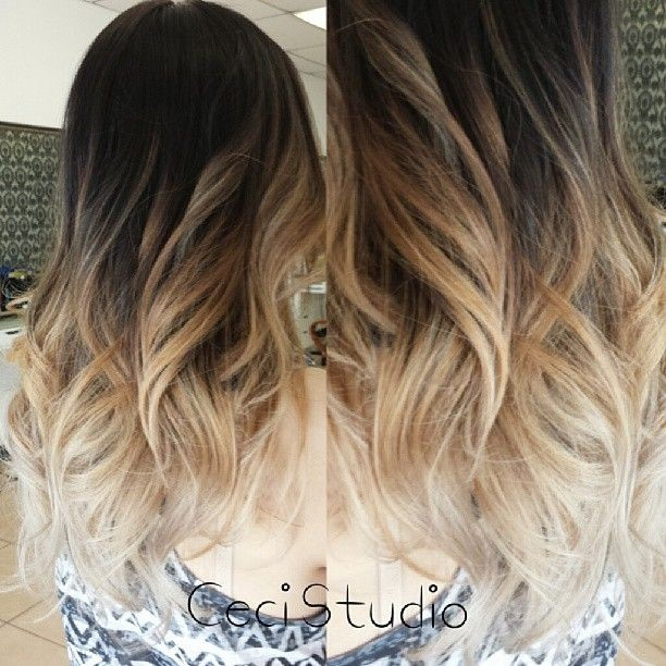 stylish long wavy hairstyle amazing ombre hair colour ideas 2015