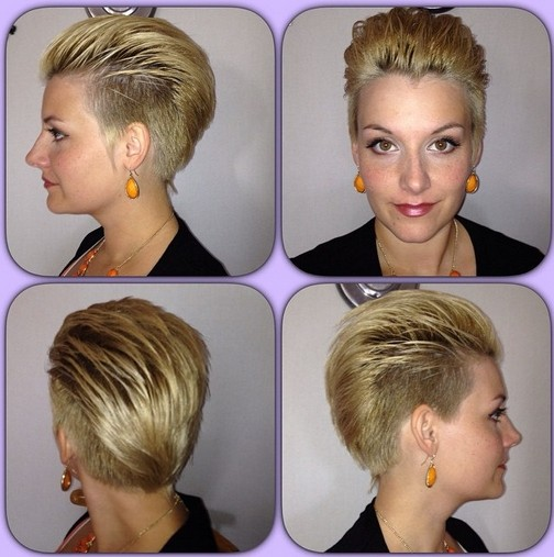 Stylish Shaved Hairstyle for Short Hair - Layered Short Hair Styles for Long Faces
