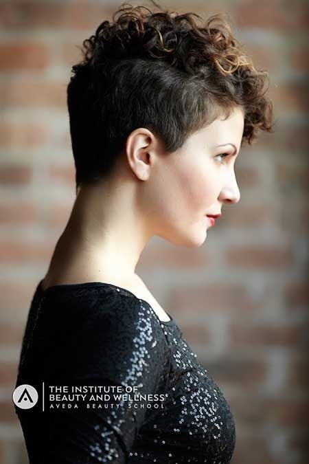 Trendy Pixie Haircut for Curly Hair  Short Haircuts 2015