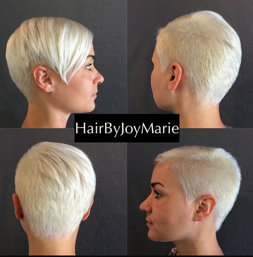 Very Short Hairstyle with Long Bangs: Women Haircuts