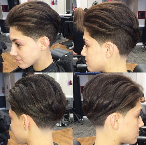 2015 Trendy Undercut Hairstyles for Short Hair