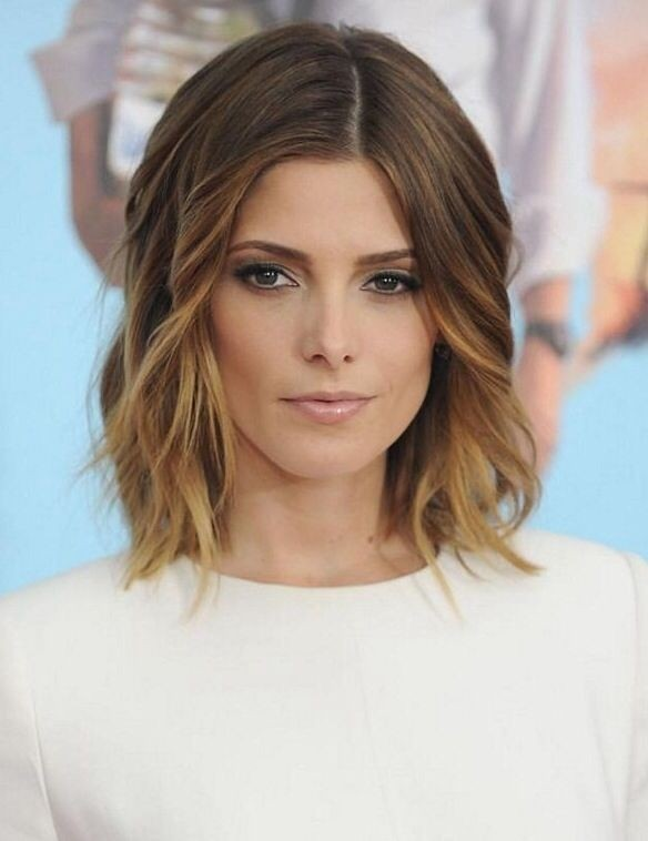 Beautiful Ombré Wavy Bob Hair Cut Shoulder Length Hairstyles