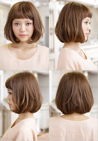Bob Haircut With Blunt Bangs Anese Short Hairstyles