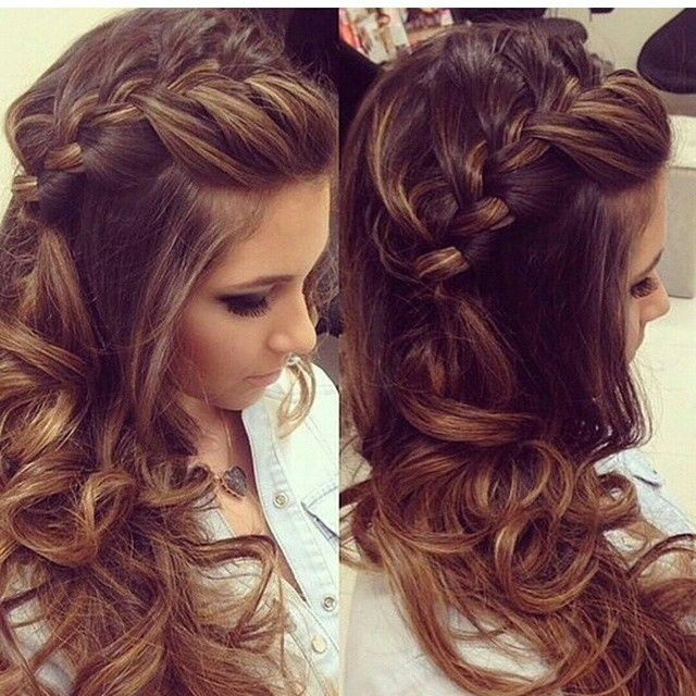 Wondrous Prom Hairstyles With Bangs And Curls Best Hairstyles 2017 Hairstyles For Men Maxibearus