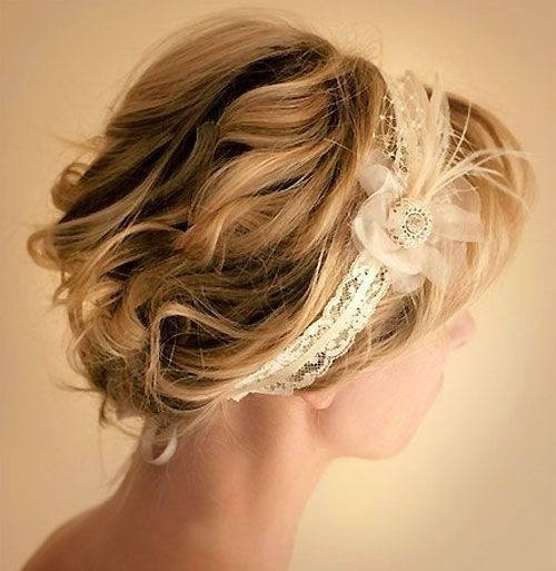 Curls Updos for Short Hair: Wedding Hairstyles