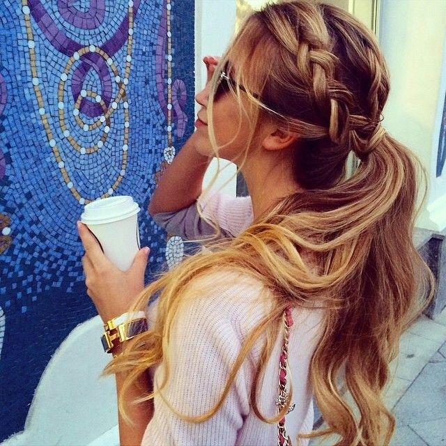 Cute Braid with Ponytail - Long Hairstyles for Spring and Summer 2015