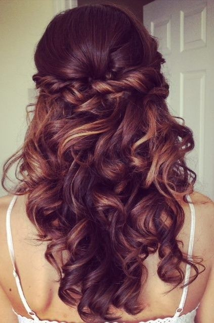 Wondrous Curl Hairstyles For Long Hair Prom Best Hairstyles 2017 Hairstyles For Women Draintrainus