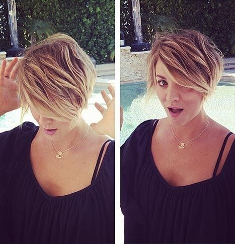 Kaley Cuoco Short Haircut - Layered Hairstyle