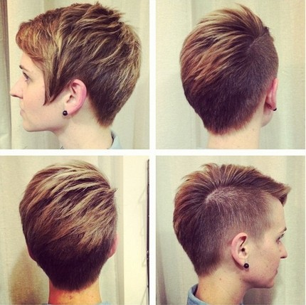 Layered Short Haircut - Shaved Hair Styles Ideas