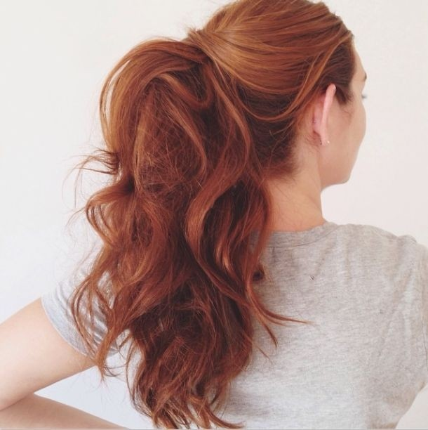 Loose Ponytail Hairstyle for Long Hair - Quick and Easy Hairstyles for Girls