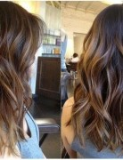 Medium Brown with Caramel Ombre Highlights - 2015 Layered Hairstyles for Women