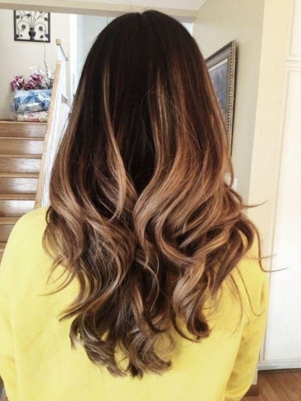 ombre hair color for dark hair long hairstyle color ideas 2015