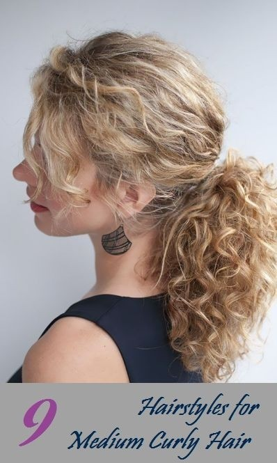 Ponytail Hairstyle for Medium Curly Hair - Everyday Hairstyles for Women 2015