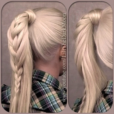 Pretty Braided Ponytail - High Ponytail Hairstyles