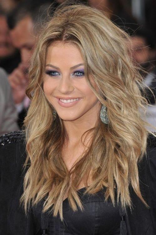 Shaggy Long Hairstyles - Heart Face Shape Haircuts for Women